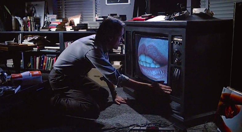 "Cyber-Punk Surrealism or Infected Brain Hallucination? James Wood's is about to receive a whole new kind of ""head""  Videodrome David Cronenberg, 1983 Cinematography 
