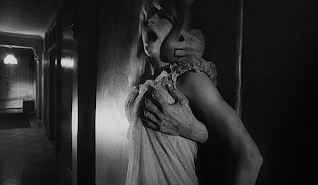 Sometimes the hall's walls turn into a flesh-like surface. Other times aggressive male arms emerge to ravage and rape Carol. Catherine Deneuve REPULSION Roman Polanski, 1965 Cinematography | Gilbert Taylor