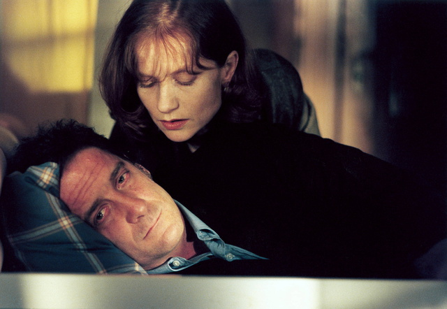 """Go after him."" Vincent Lindon and Isabelle Huppert Keep It Quiet Benoît Jacquot, 1999 Cinematography 