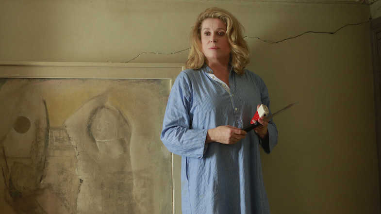 Oh no. Not another crack!?!? Catherine Deneuve at 72 plays Mathilde In the Courtyard Pierre Salvadori, 2014 Cinematography | Gilles Henry