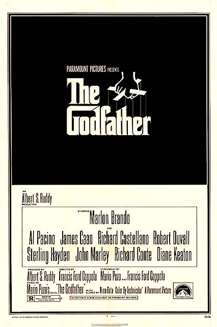 Films really do not get much better than this. But in Rotten Tomatoes Logic, this film is only 4 % points higher than Clint Eastwood's Unforgiven. The Godfather Francis Ford Coppola, 1972