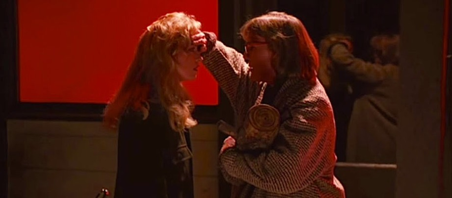 The Log Lady offers a bit of comfort and a warning that serves as key to the strange world in which we roam... Sheryl Lee & Catherine E. Coulson Twin Peaks: Fire Walk With Me David Lynch, 1992 Cinematography | Ronald Victor Garcia