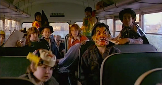 Costumed for fun a school bus full of children are trapped Out of the Blue Dennis Hopper, 1980 Cinematography | Marc Champion