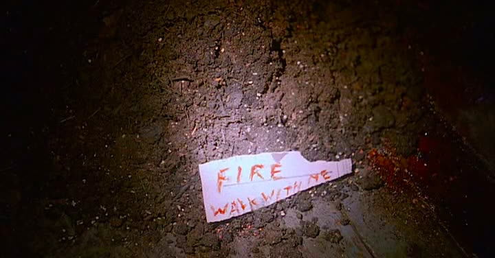 Written in blood. Never before in television history has the grammar and meaning of a phrase been so analyzed and debated.  Twin Peaks: Fire Walk With Me David Lynch, 1992 Cinematography | Ronald Victor Garcia