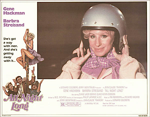 I know! Let's put that shot of her with the motor helmet!  All Night Long Jean-Claude Tremont, 1981