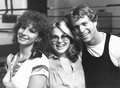 Barbra Streisand, Sue Mengers and Ryan O'Neal on the set of The Main Event. 1978 Photographer unknown to me.