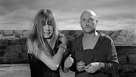 "Uh, oh. Dickie has just pressed his ""luck."" Françoise Dorléac & Donald Pleasence Cul-de-Sac Roman Polanski, 1966 Cinematography 