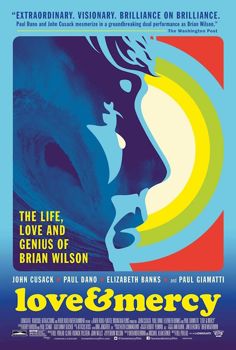 """I was sittin' in a crummy movie With my hands on my chin All the violence that occurs Seems like we never win...: - Brian Wilson The only thing is there is nothing ""crummy"" about this film... LOVE & MERCY Bill Pohlad, 2015"