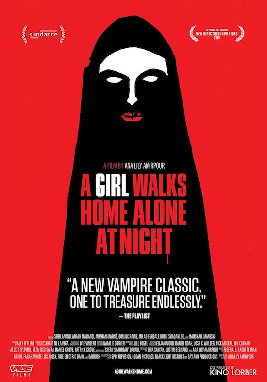 Cool not because it tries to be, it simply is... A GIRL WALKS HOME ALONE AT NIGHT Ana Lily Amirpour, 2014