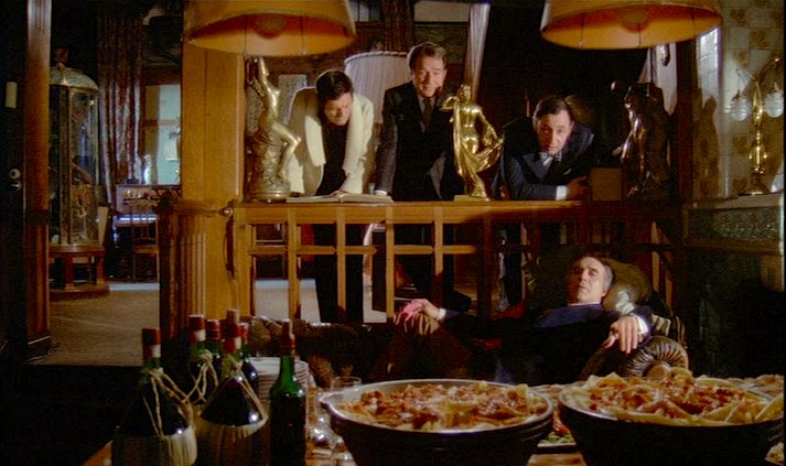 Marcello Mastroianni, Ugo Tognazzi, Philippe Noiret and Michel Piccoli play friends who have grown bored with life, but they have a plan! La Grande Bouffe Marco Ferreri, 1973 Cinematography | Mario Vulpiani