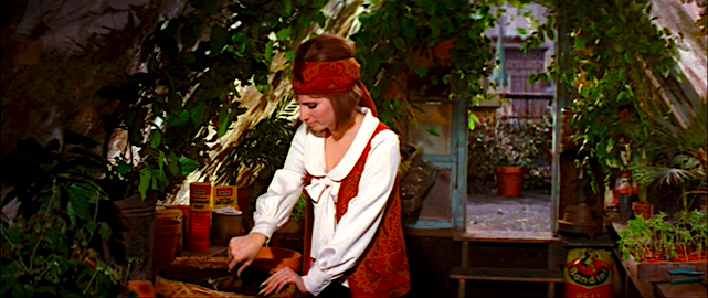 """I make plants grow. Fast. I mean really fast."" Barbra Streisand tending garden in Scaasi On A Clear Day You Can See Forever Vincente Minnelli, 1970 Cinematography 