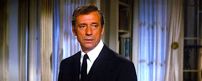 Consistently confused and seemingly a bit embarrassed, the great Yves Montand flew in from Paris to play Streisand's love interest. Yves Montand On A Clear Day You Can See Forever Vincente Minnelli, 1970 Cinematography | Harry Stradling Sr.