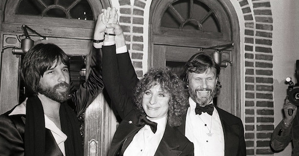 Jon Peters, Streisand and Kris Kristofferson A Star Is Born Premier, 1976 Photographer unknown to me.