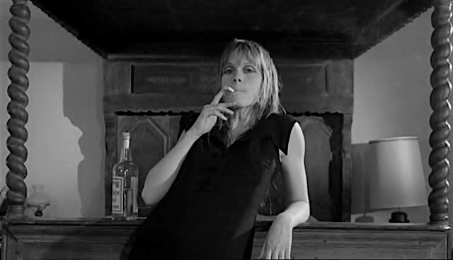 Who is the victim? Who is the Victimizer? Françoise Dorléac enjoys a long puff... Cul-de-Sac Roman Polanski, 1966 Cinematography | Gilbert Taylor