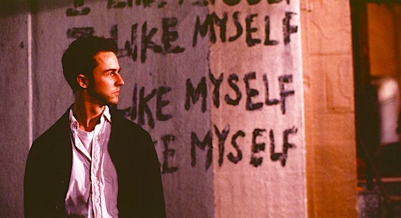 """I like myself"" Edward Norton Fight Club David Fincher, 1999 Cinematography 
