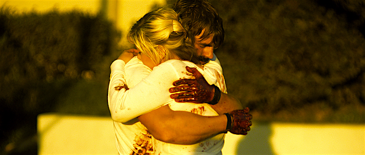 For one immature slacker, love takes a startlingly apocalyptic turn. Bleeding, violated, defeated and broken -- Evan Glodell and Jessie Wiseman embrace as everything around them seems to fall apart. Bellflower Evan Glodell, 2011 Cinematography | Joel Hodge
