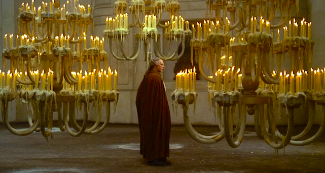 Lonely, isolated and sad. Donald Sutherland Fellini's Casanova Federico Fellini, 1976 Cinematography | Giuseppe Rotunno