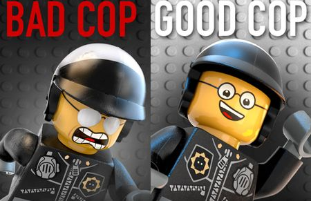 Uh, oh. The Good Cop / Bad Cop: A toy w/ DID The Lego Movie Phil Lord & Christopher Miller, 2014