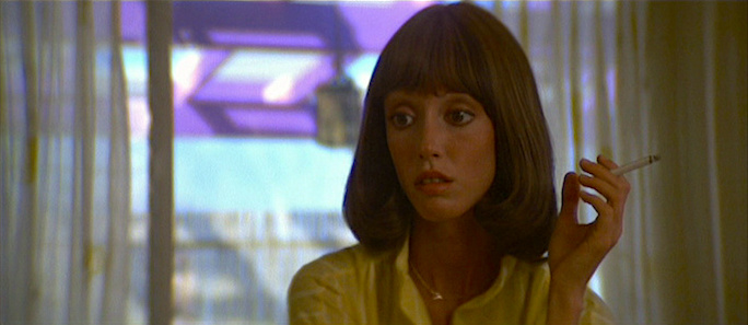 Millie aims for perfection within a man's nightmare... Shelley Duvall  3 Women Robert Altman, 1977 Cinematography | Charles Rosher Jr.