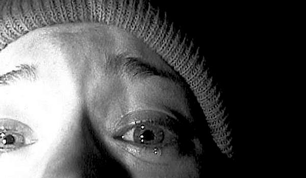 Heather Donahue turns the camera on herself as she panics and fears she is facing her end. The Blair Witch Project Daniel Myrick / Eduardo Sanchez, 1999