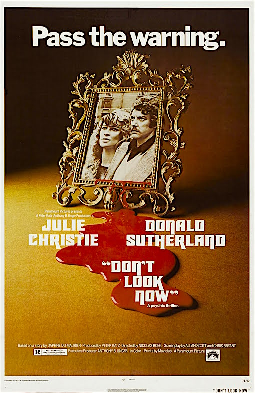 """This one who's blind. She's the one that can see."" Don't Look Now Nicolas Roeg, 1973"