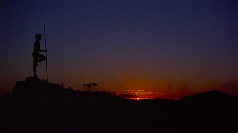 A young man takes a look at the land of his future and a shot becomes an iconic image. David Gulpilil Walkabout Nicolas Roeg, 1971