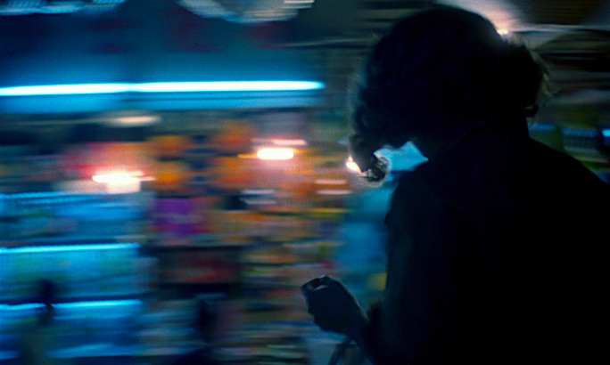 A world of crowded chaos whirls past as the characters navigate it. Brigitte Lin Chungking Express Kar-wai Wong, 1994 Cinematography | Christopher Doyle