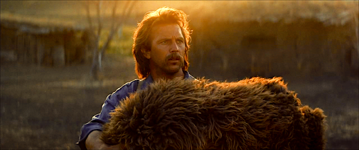 """""""It seems every day ends with a miracle here."""" Kevin Costner chose to provide the narrative voice-over for his 1990 epic. Dances With Wolves Kevin Costner, 1990 Cinematography 