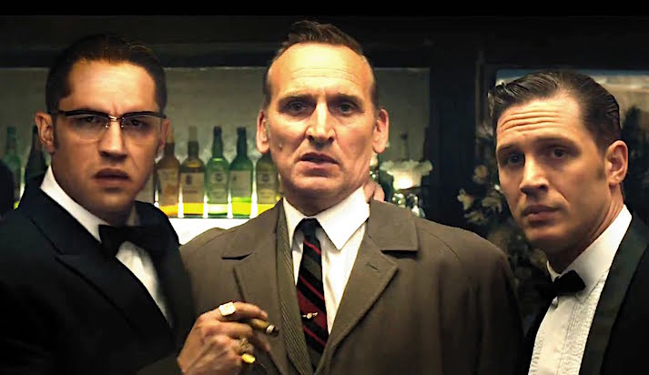Even though the budget has severely restricted the digital effects -- These 3 are poised to creep you out and make you laugh... Tom Hardy, Christopher Eccleston & Tom Hardy Legend Brian Helgeland, 2015 Cinematography | Dick Pope