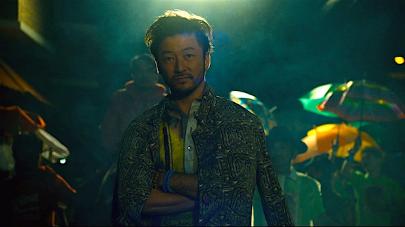 Tadanobu Asano can only pause to hide the pain with a smile or a laugh... Ruined Heart KHAVN, 2014 Cinematography | Christopher Doyle