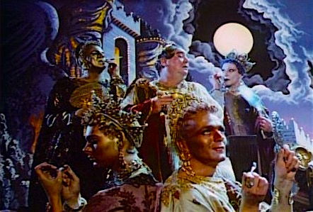 Several queens form The Nazareans . As well as the late Imogene Claire.  Salome's Last Dance Ken Russell, 1988 Cinematography | Harvey Harrison