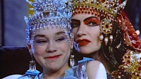 No worries. It's just some mother observations to her daughter... Imogen Millais-Scott and Glenda Jackson Salome's Last Dance Ken Russell, 1988 Cinematography | Harvey Harrison