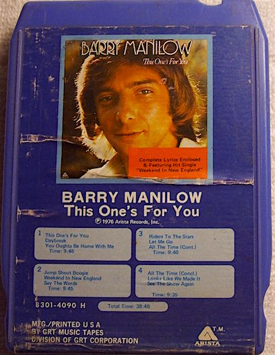 "You know, I'd swear her copy was on an orange tape... ""Well you came and you gave without taking."" Barry Manilow II"