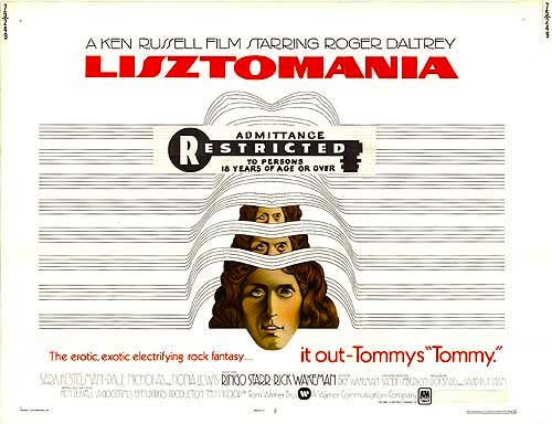 """It out-Tommy's TOMMY!"" Lisztomania Ken Russell, 1975"