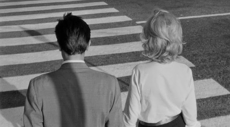 Alain Delon and Monica Vitti are actually fitting into their environment, but are their emotions? L'Eclisse Michelangelo Antonioni, 1962 Cinematography | Gianni Di Venanzo
