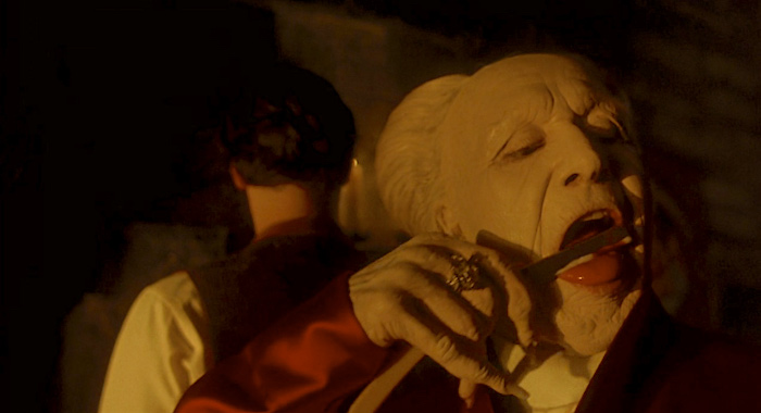 Oh, he's just gotta get him some Keanu-blood! Keanu Reeves contemplates his accent as Gary Oldman licks the straight razor. Bram Stoker's Dracula Francis Ford Coppola, 1992 Cinematography | Michael Ballhaus