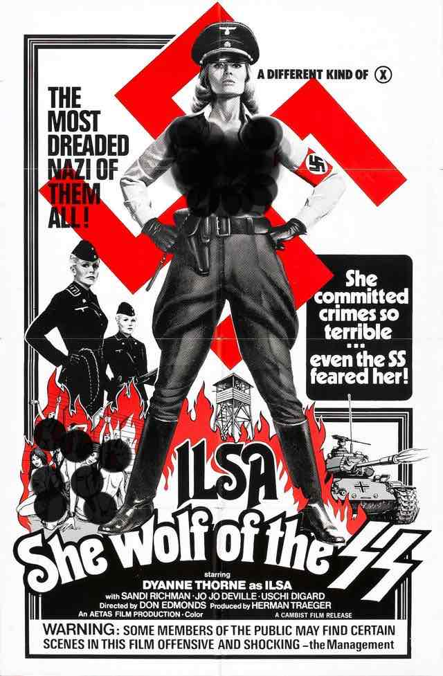 A different kind of X... Iisa: She Wolf of the SS 1975
