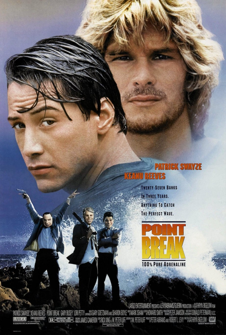 """You want me so bad, its like acid in your mouth."" Keanu Reeves & Patrick Swayze POINT BREAK Kathryn Bigelow, 1991"