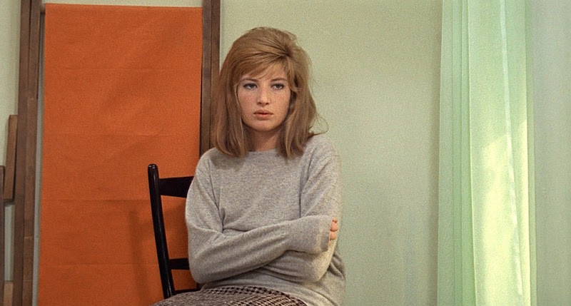 """I dreamed I was in bed and the bed was moving. I looked down and it was on quicksand. It was sinking deeper and deeper."" Monica Vitti Red Desert Michelangelo Antonioni, 1964 Cinematography 