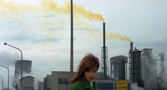 Monica Vitti takes a walk in a post-industrial nightmare. Red Desert Michelangelo Antonioni, 1964 Cinematography | Carlo Di Palma