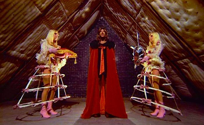 """Gather your wits and hold on fast, Your mind must learn to roam."" Tina Turner is The Acid Queen TOMMY Ken Russell, 1975 Cinematography 