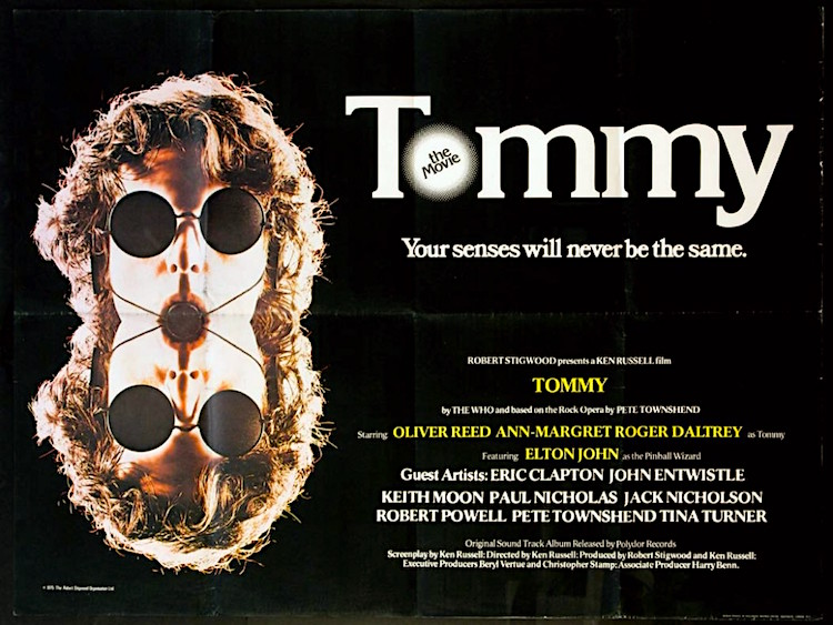"""Your senses will never be the same..."" TOMMY Ken Russell, 1975"