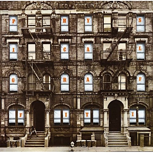 Amazing art direction / design and an album that continues to play throughout my life. Led Zeppelin Physical Graffiti, 1975