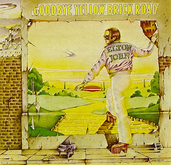 """She's got electric boots a mohair suit You know I read it in a magazine..."" Elton John Goodbye Yellow Brick Road, 1973"