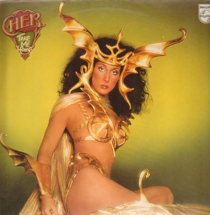 It might have only had one hit single, but who wouldn't want to take Cher home in her disco armor?!?! Cher Take Me Home, 1979