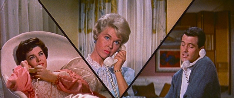 """...this may come as a surprise to you, but there are some men who don't end every sentence with a proposition."" Doris Day and Rock Hudson Pillow Talk Michael Gordon, 1959 Cinematography 