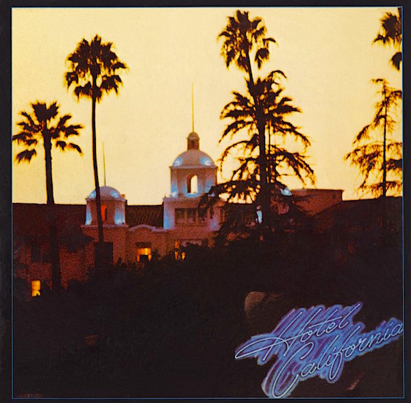 Watch out! There's a ghost hiding inside the gate fold! Eagles Hotel California, 1976
