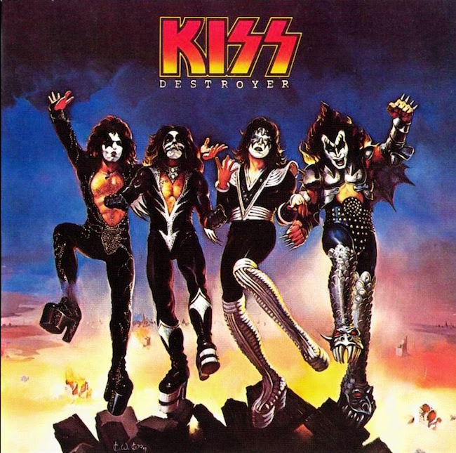This band hypnotized me and most of my elementary school friends. Plus a power ballad! KISS Destroyer, 1976