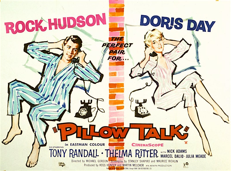 """It's what goes on when the lights go off!"" Pillow Talk Michael Gordon, 1959"