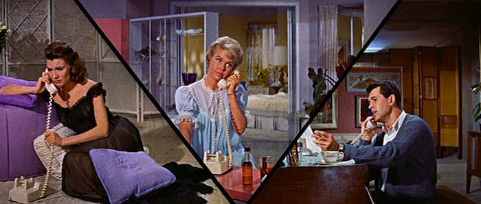 Poor Jan is about to take facial mugging to a whole new level... Doris Day and Rock Hudson Pillow Talk Michael Gordon, 1959 Cinematography | Arthur E. Arling